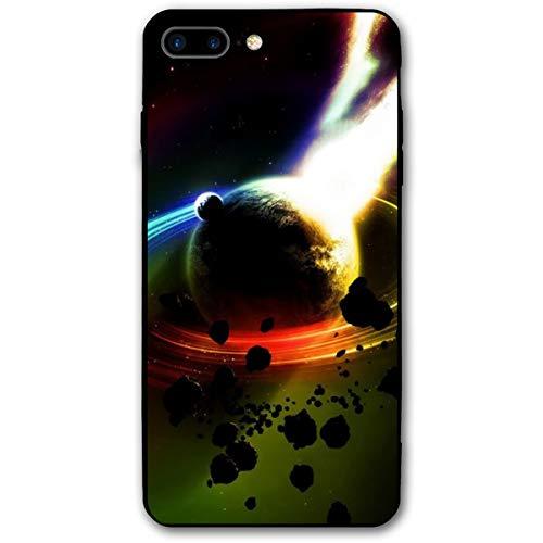 Xianjing iPhone 7 Plus Case/iPhone 8 Plus Case Saturn Fire Meteorites Anti-Scratch PC Rubber Cover Lightweight Slim Printed Protective Case