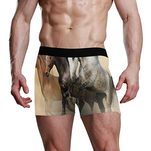 Mustang Bikini Underwear - Mens Boxer Briefs Intelligent Mustang Horse Bikini Underwear Stretch Low Rise Trunks Boys Underpants