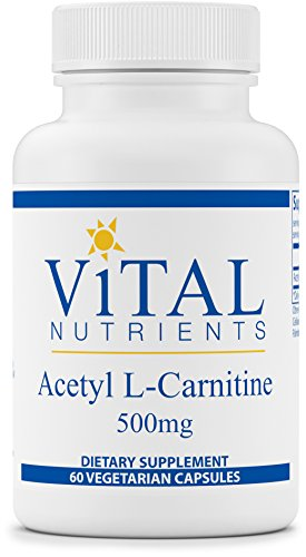 Vital Nutrients Acetyl L Carnitine 500 mg Supports Normal Brain Function 60 Capsules