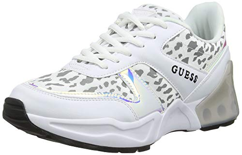GUESS Women's Teknical/Active Lady/Leather L Trainers, Bianco, 3.5
