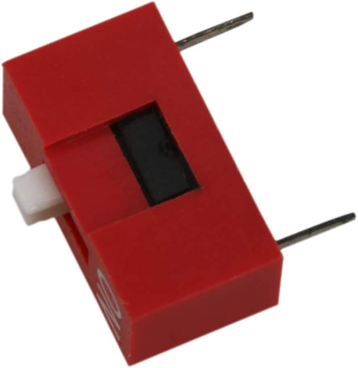 Yibuy Red 1 Way DIP Toggle Switch with 2 Metal Pin for Circuit Board Set of 20