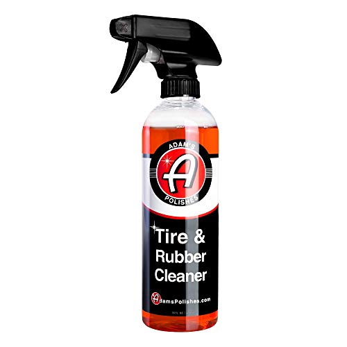 Adam's Tire & Rubber Cleaner - Removes Discoloration from Tires Quickly - Works Great on Tires, Rubber & Plastic Trim, and Rubber Floor Mats (16 oz)