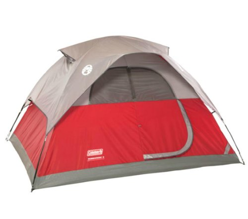 COLEMAN Flatwoods WeatherTec 4 Person Family Camping Tent w/ Rainfly | 9′ x 7′