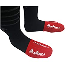 Hot Sockee - Neoprene Toe Warmers - Worn Inside Shoes or Boots - 3 Sizes - Cycling, Hiking, Winter Sports, Work & Construction Boots