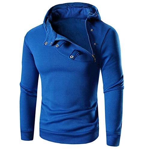 Blau Hombre Sudadera Capucha Fashion Con Ropa Saoye Para 8pX0qpn