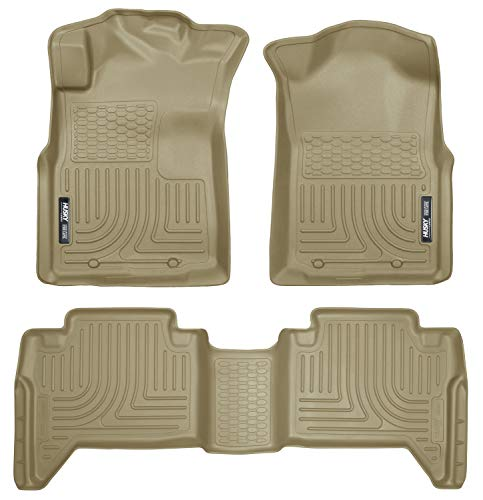 Husky Liners Fits 2005-15 Toyota Tacoma Double Cab Weatherbeater Front & 2nd Seat Floor Mats (Footwell Coverage)