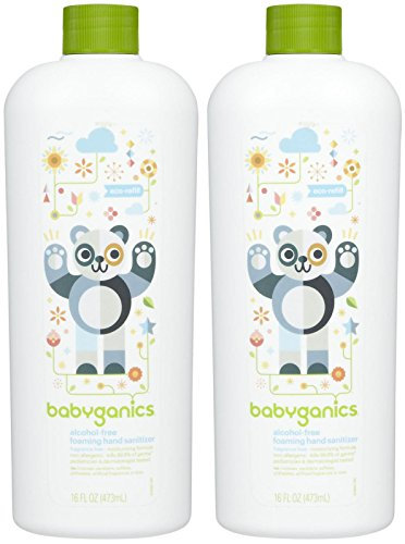 Babyganics Alcohol-Free Foaming Hand Sanitizer Refill - Fragrance Free - 16 oz - 2 pk