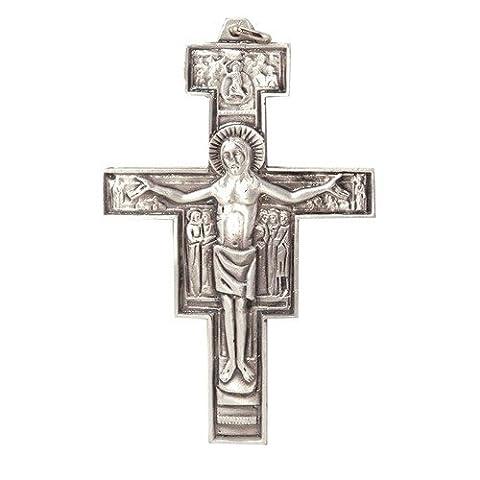 Metal Crucifix. Pope Francis Crucifix. Papa Francesco. Assisi Cross. Metal Franciscan Crucifix. San Damiano Cross. 6cms. Franciscan - Franciscans San Damiano