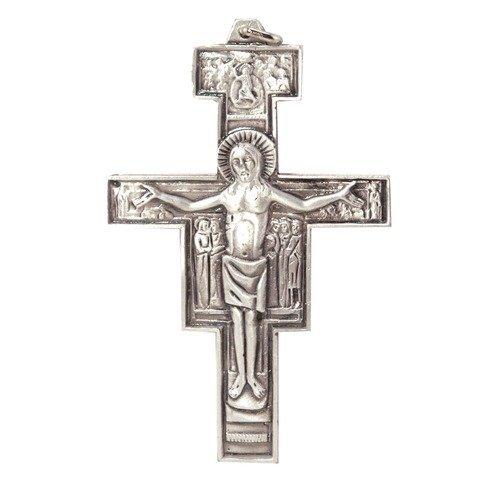 Devotional GiftsUK Metal Crucifix. Pope Francis Crucifix. Papa Francesco. Assisi Cross. Metal Franciscan Crucifix. San Damiano Cross. 6cms. Franciscan Cross. (Stations Of The Cross St Francis Of Assisi)