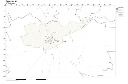 Amazon.com: ZIP Code Wall Map of Skidmore, TX ZIP Code Map Laminated ...