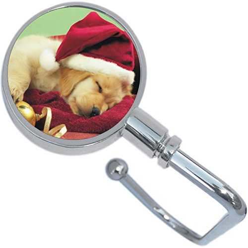 Sleepy Christmas Puppy Dog Purse Hanger and ()