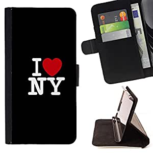 Devil Case- Style PU Leather Case Wallet Flip Stand Flap Closure Cover FOR Samsung Galaxy S3 III I9300 I9308 I737- I LOVE New York