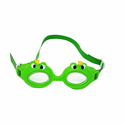 Kids Swim Goggles By Marco Polo: Swimming Goggles For Boys And Girls, Cute And Funny Frog Design, Leak Resistant Water Goggles For Children, Comfortable To Wear In The Sea And The Pool