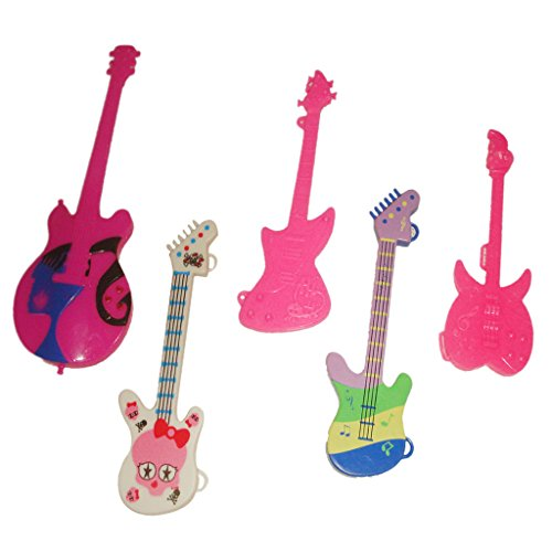 5 Assorted GUITAR MUSICAL INSTRUMENT ACCESSORY FUN SET for Barbie Sindy Doll (Musical Instrument Accessories)