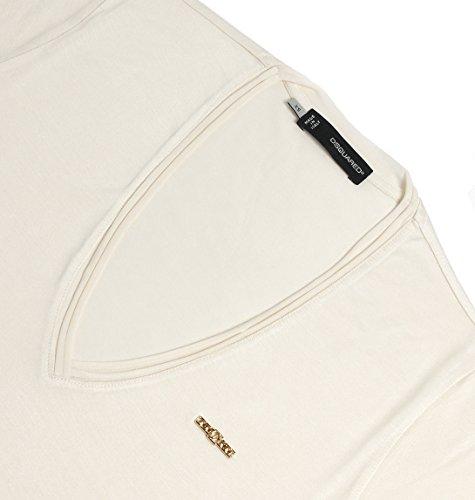 Dsquared2 Damen S75GC0641S21498102 Beige Baumwolle T-Shirt