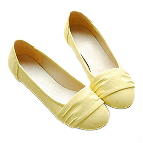 Nonbrand Damen Absatz Ballerinas Gelb