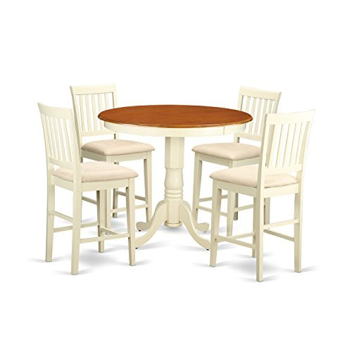 Buy east west furniture bar table with 4 barstools