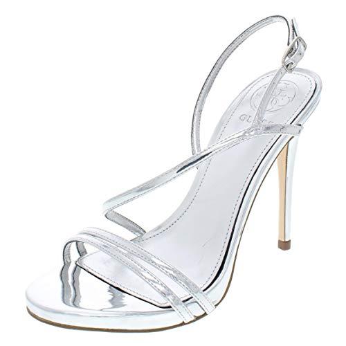 Sandals Metallic Guess (GUESS Women's Tilda Silver Metallic 6.5 M US)