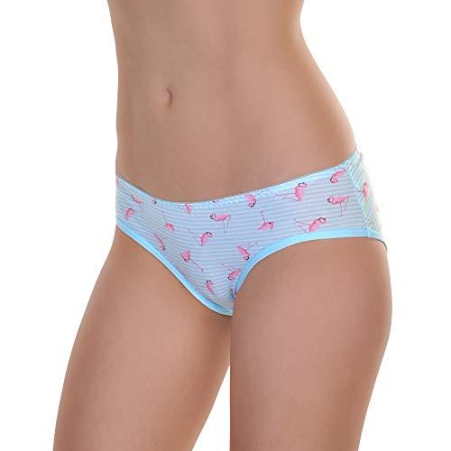 Angelina Underwear Ladies - Angelina Women's Cotton Bikini Panties with Flamingo Print Design (6-Pack), G6420_UX