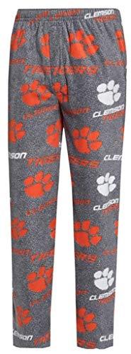 NCAA Clemson Tigers Men's Microfleece Pajama Pants XL 40-42