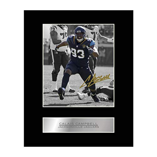 Campbell Autographed Photo - Calais Campbell Signed Mounted Photo Display Jacksonville Jaguars NFL Autographed Gift Picture Print