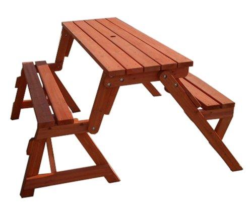 Convertible Picnic Table Garden Bench Outdoor Furniture