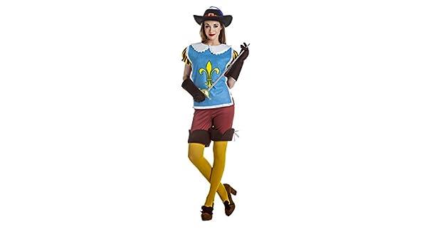 Disfraz de Mosquetera Azul para Mujer - XL: Amazon.es: Juguetes y ...