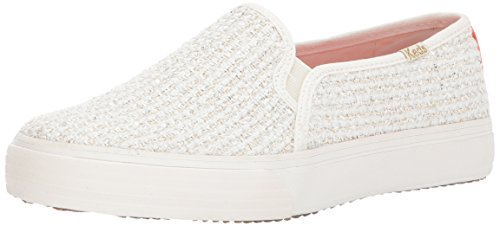 Keds-dames Dubbeldekker Sequin Knit Fashion Sneaker Cream