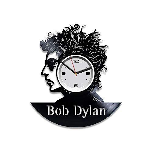Kovides Bob Dylan Clock Bob Dylan Vinyl Clock Bob Dylan Rock Wall Clock Vintage Bob Dylan Vinyl Record Wall Clock Bob Dylan Vinyl Wall Clock Gift for Man Bob Dylan Birthday Gift For Him 12 inch Clock
