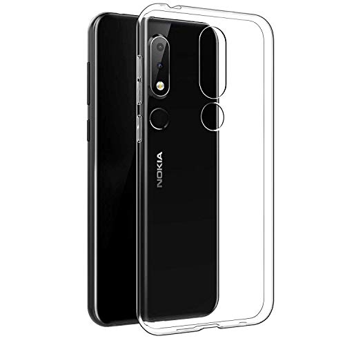 NTV Nokia 6.1 Plus Back Case Cover    Transparent