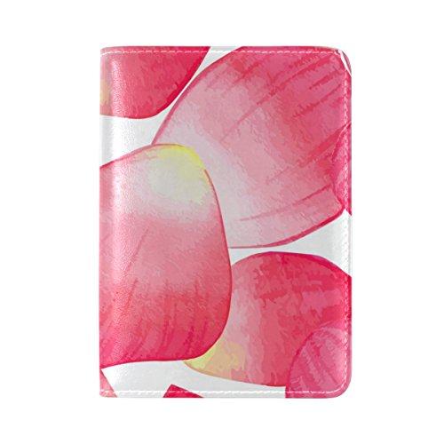 Copertina Del Passaporto Da Viaggio Coosun In Pelle Petali Di Rosa Per Una Tasca