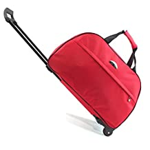 SENLI Luggage 20 Inch Rolling Duffle trolley bag travel bag tote Carry-On red for Women Short Term Trips Weekend Excursion