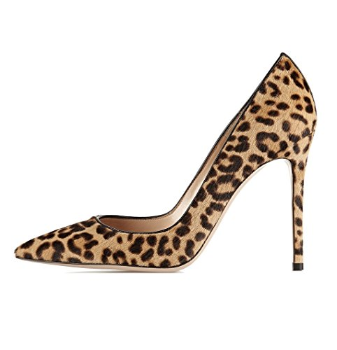 Klassische Heels Stiletto Schuhe EDEFS High Pumps Leopard Spitze Damen Zehe tx10ZwY