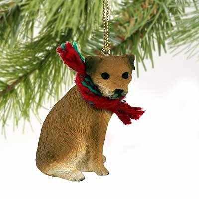 1 X Border Terrier Miniature Dog Ornament (Terrier Border Figurine Dog)
