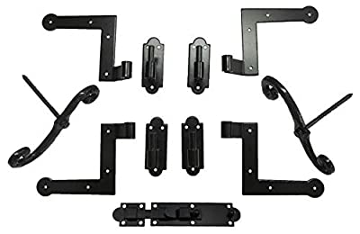New York Style Shutter Hinge (4) Hardware Set Brick Mount with S/Dogs (2) and Slide Bolt