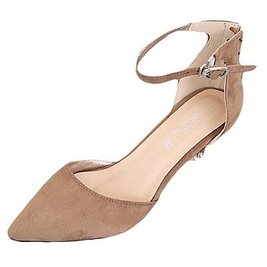 RTRY Zapatillas De Mujer &Amp; Flip-Flops Verano Confort Casual Pu Chunky Heelblack Caminar Blanco US5 / EU35 / UK3 / CN34