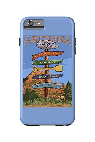 Sedona Arizona - Destination Signpost (Rock List) (iPhone 6 Plus Cell Phone Case Cell Phone Case, Tough)