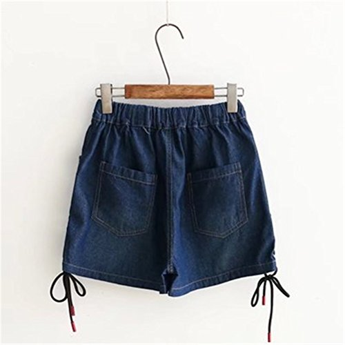 Elastique Amincissant Denim Taille Femme blue Grande en Oudan Dark pour Shorts Et SqYU1wq0