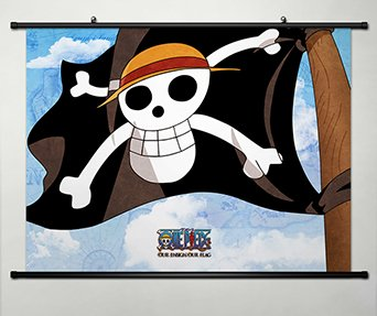 Wall Scroll Poster Fabric Painting For Anime One Piece Pirat