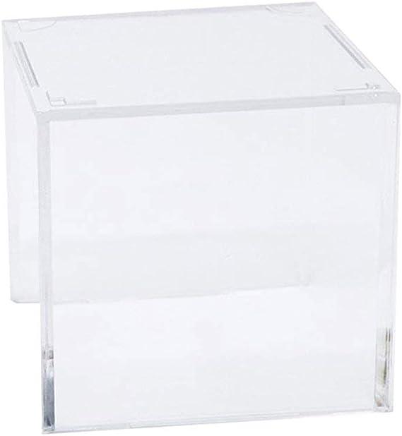 LIOOBO Caja de Almacenamiento Transparente de Cubo de Exhibición de Bola Cuadrada de Acrílico para Béisbol Pelota de Tenis Softball: Amazon.es: Hogar