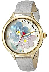 Betsey Johnson Women's BJ00470-08 Analog Display Quartz Grey Watch