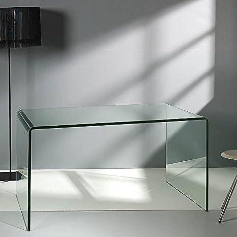 HABITMOBEL Mesa DESPACHO 140 Cristal Transparente - Producto ...
