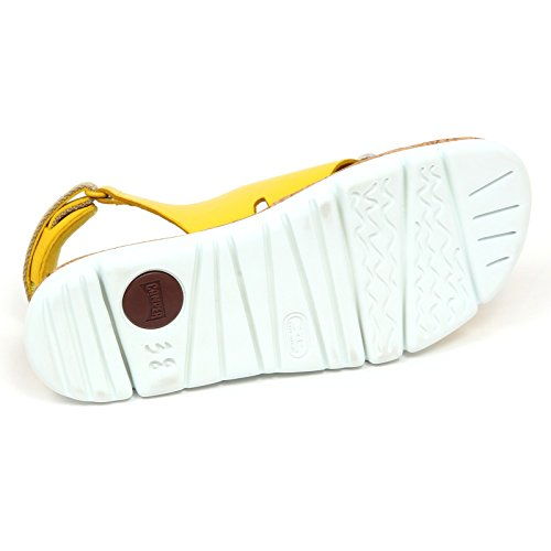 Box Sandalo Giallo Without Bianco Yellow Woman Donna E6198 White Shoe Scarpe CAMPER q6Etx