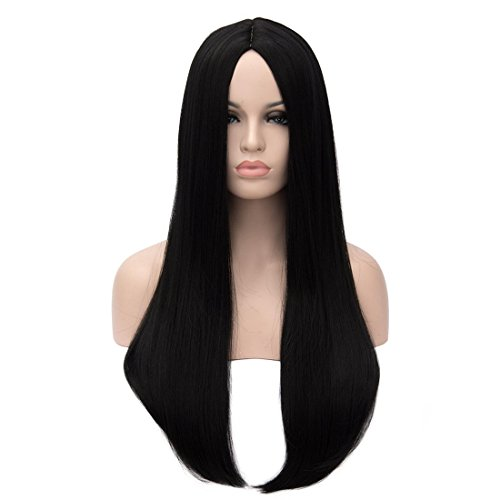 Kalyss 26 inches Women's Wig Long Straight Imported Synthetic Cosplay Costume Hair Wig]()