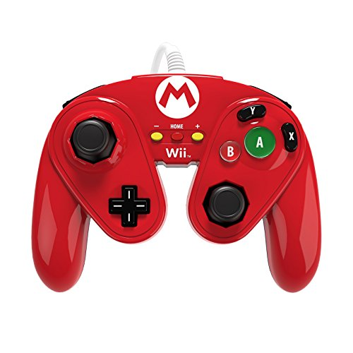 PDP Wired Fight Pad for Wii U - Mario (Mario Wii Remote)