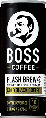 (BOSS COFFEE by Suntory - Japanese Coffee Drink - Imported Coffee - Flash Brewed - Gluten Free, Sugar Free, Dairy Free, Keto, Vegan. (Original Black) (8 oz) (Pack of 12) )