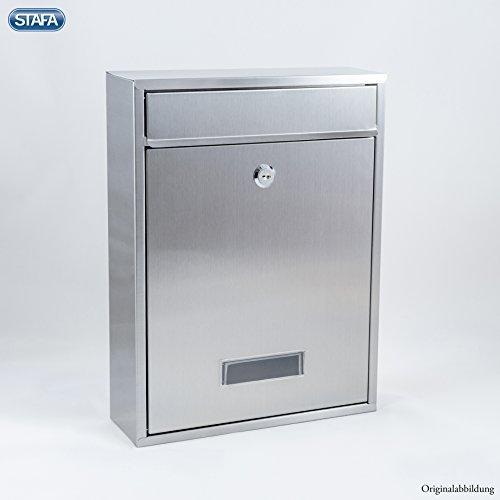 Edelstahl Briefkasten Wandbriefkasten Briefkastenanlage Standard DIN A4