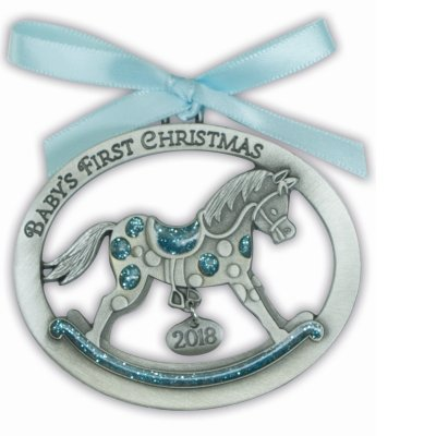 CA Baby Boy's First Christmas 2018 Ornament - GIFT ()