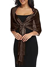 """Banetteta""""Dream Nocturne"""" Metalic Shawls and Wraps for Evening Dresses"""