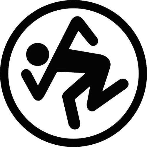 DRI ROCK BAND LOGO STICKER SYMBOL 5.5' DECORATIVE DIE CUT DECAL Rock n Roll - BLACK